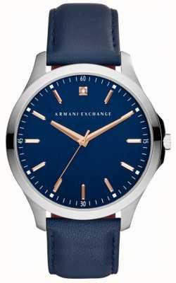 Armani Exchange 男士汉普顿皮革表带 AX2406