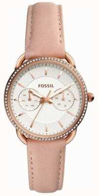 Fossil 女装裁缝皮革表带 ES4393