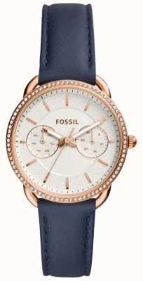 Fossil 女装裁缝皮革表带 ES4394