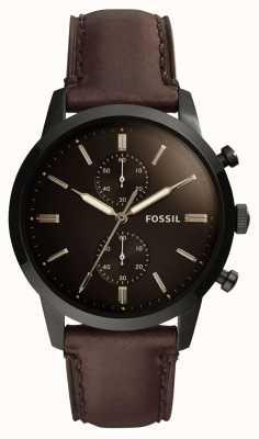Fossil 男士44毫米男士皮革表带 FS5437