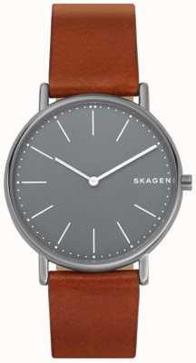 Skagen 男士signatur皮革表带 SKW6429