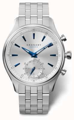 Kronaby 41毫米sekel银色表盘不锈钢表链a1000-3121 S3121/1