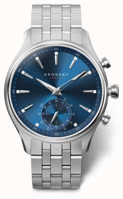 Kronaby 41毫米sekel蓝色表盘不锈钢表链 A1000-3119