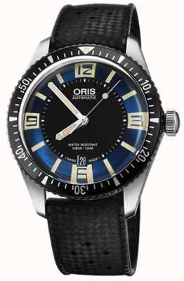Oris 潜水员六十五个自动橡胶表带蓝色表盘 01 733 7707 4035-07 4 20 18