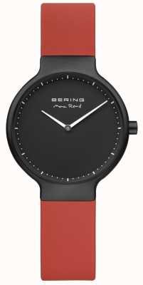 Bering Maxrené红色表带黑色镀镍表壳和表盘 15531-523