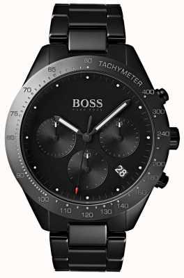 Hugo Boss 男士天赋黑色表盘日期显示黑色镀IP手链 1513581