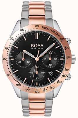 Boss 男人的才能|玫瑰金和银色不锈钢表带| 1513584