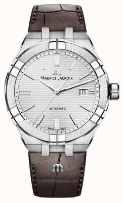 Maurice Lacroix Aikon自动棕色皮革手表 AI6008-SS001-130-1