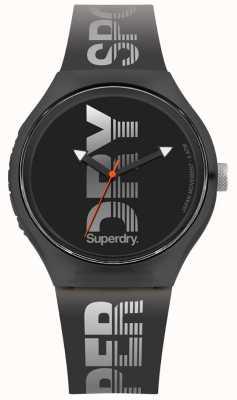 Superdry 城市xl运动黑色硅胶表带 SYG189B