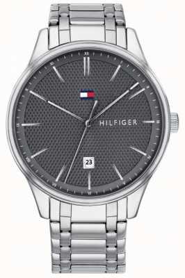 Tommy Hilfiger 男士达蒙灰色表盘不锈钢腕表 1791490