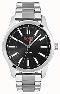 Hugo Boss Orange 男士都柏林黑色表盘不锈钢手镯腕表 1550069