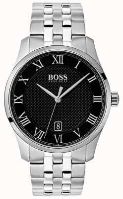 Hugo Boss 男士掌握不锈钢黑色表盘 1513588