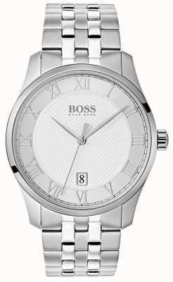 Hugo Boss 男士掌握不锈钢银色表盘 1513589