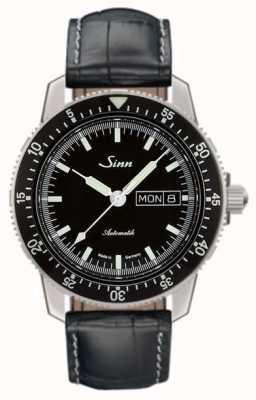 Sinn 104我经典的飞行员看鳄鱼压花皮革 104.010-BL44201851001225301A