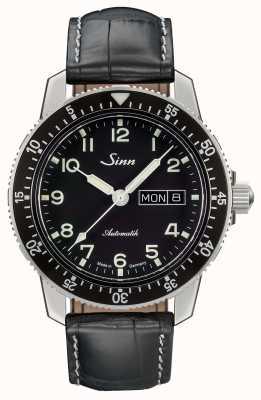 Sinn 104是经典飞行员腕表黑色皮革表带 104.011 LEATHER