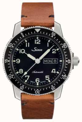 Sinn 104是一款经典飞行员手表,浅棕色复古牛皮 104.011 VINTAGE COWHIDE