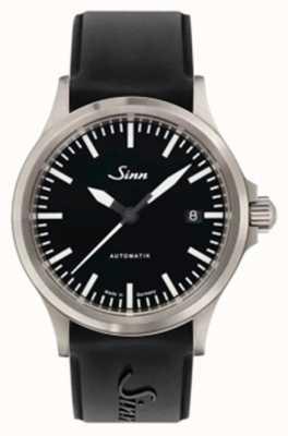 Sinn 556我运动蓝宝石玻璃黑色硅胶表带 556.010 SILICONE