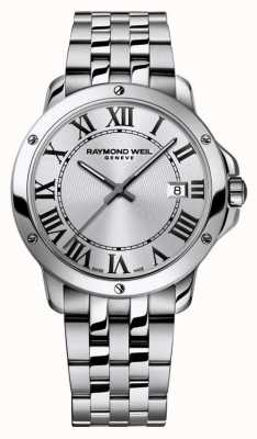 Raymond Weil 男士探戈不锈钢表链银色表盘 5591-ST-00659