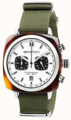 Briston Clubmaster运动丛林白色表盘 17142.SA.TS.2.NGA