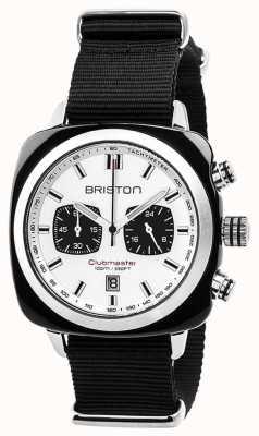 Briston Clubmaster运动永恒黑色表带白色表盘 17142.SA.BS.2.NB