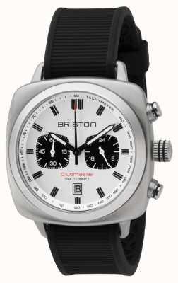 Briston Clubmaster运动黑色橡胶表带白色表盘 16142.S.SP.2.RB