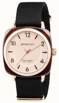 Briston Clubmaster时尚黑色表带金色表盘 18536.PRA.T.6.NB