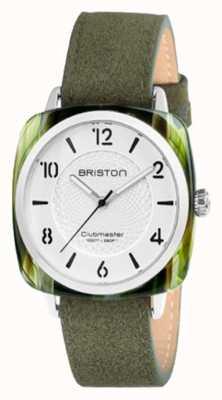 Briston Clubmaster别致的白色表盘绿色表带 18536.SA.GE.2G.LNGA