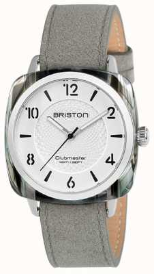 Briston Clubmaster女士别致的灰色表带白色表盘 18536.SA.GRE.2G.LNG