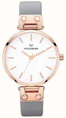 Mockberg 女式alicia深灰色皮革手表 MO118