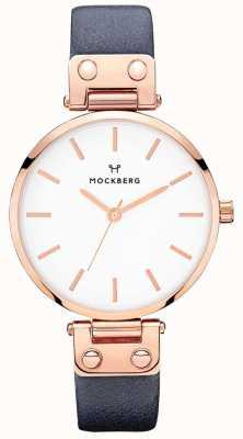 Mockberg 女式sophie海军蓝色皮革手表 MO119