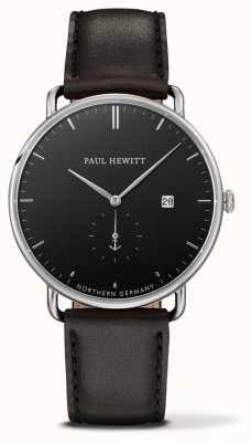Paul Hewitt 大西洋黑色皮革石英 PH-TGA-S-B-2M