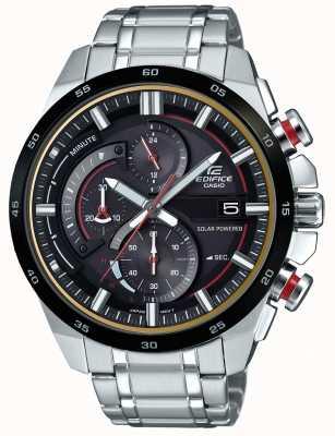 Casio 男装大厦3d计时码表太阳能手表 EQS-600DB-1A4UEF