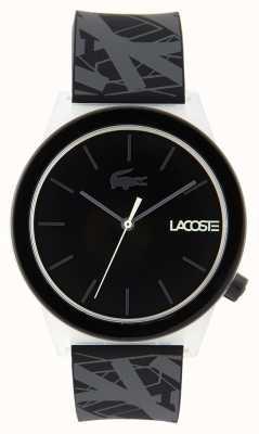 Lacoste 中性动作腕表黑色和灰色橡胶表带 2010937