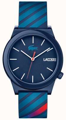 Lacoste 中性动作观看蓝色橡胶表带 2010934