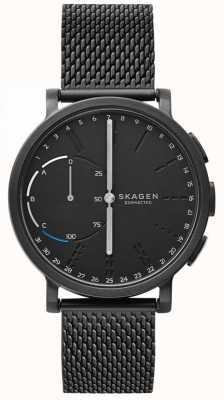 Skagen 哈根连接智能手表黑色网状手链黑色表盘 SKT1109