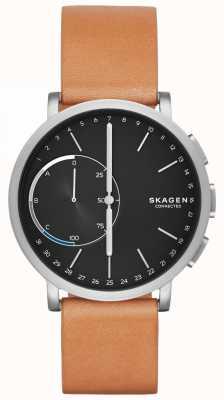 Skagen Hagen连接智能手表棕色皮革表带黑色表盘 SKT1104