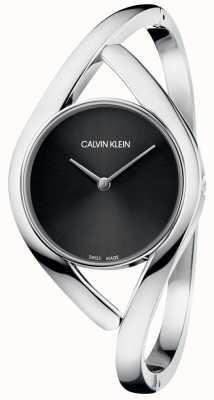 Calvin Klein 女士手镯表派对黑色表盘 K8U2M111