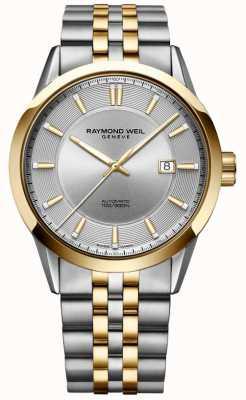 Raymond Weil 男士自由职业者自动双音手链银色表盘 2731-STP-65001