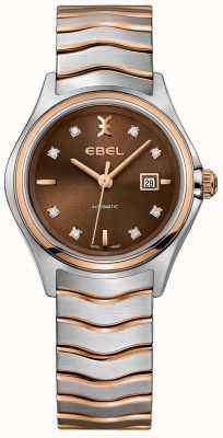 EBEL 女式自动波浪钻石日期显示榛子表盘 1216265
