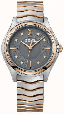 EBEL 女式钻石波浪金属灰色表盘双色手镯 1216309