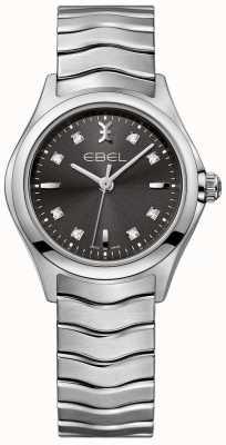 EBEL 女式钻石无烟煤表盘不锈钢表链 1216316