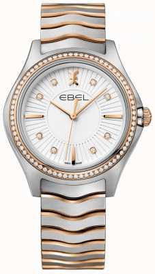 EBEL 女式钻石套装波浪白色表盘双色手链 1216319