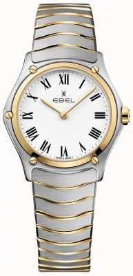 EBEL 女子运动经典白色表盘双色调手镯不锈钢 1216387