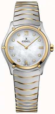 EBEL 女子运动经典钻石珍珠母贝表盘两色调 1216388