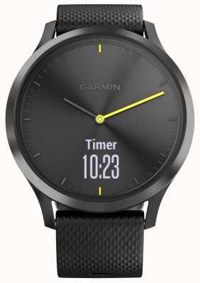Garmin Vivomove hr活动追踪器黑色橡胶黄色调 010-01850-01