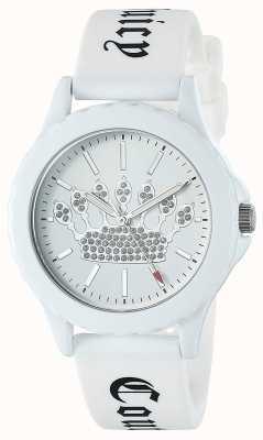 Juicy Couture 女式白色硅胶表带腕表白色表盘 JC-1001WTWT