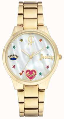 Juicy Couture (无盒)女士金色钢手链手表 JC-1016MPGB
