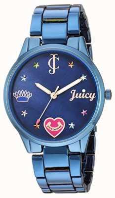 Juicy Couture 女装蓝钢手链|彩色标记|蓝色表盘 JC-1017BMBL