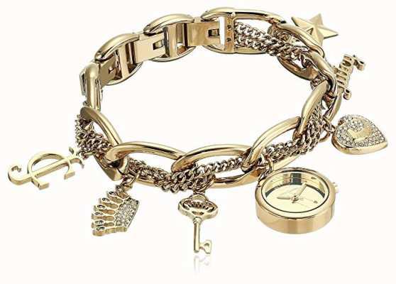 Juicy Couture 女装金色不锈钢魅力手链手表 JC-1040GPCH