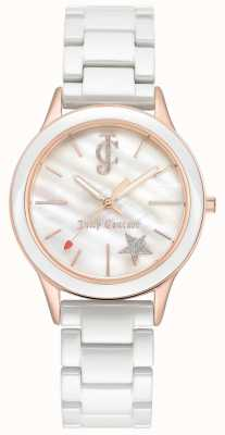 Juicy Couture 女式白色手链白色表盘玫瑰金色调表壳 JC-1048WTRG